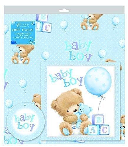 Baby Boy Gift Wrap Set Amazon Co Uk Office Products