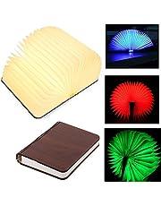 Yuanj USB Rechargeable Magnetic Wooden Folding Book Lamp Reading Lamp 2500mAh Lithium Batteries -4 Colors