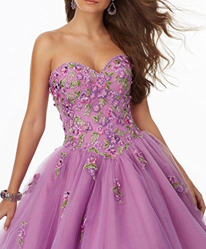 AbendKleider Abschlussball Purple 2017 Damen Quinceanera Changjie Ballkleider color Lang Multi Lang Kleid A Linie Partykleider Prinzessin Formelle xzndxP6