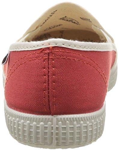 Victoria Slip On Rayas Lona - Zapatillas de deporte Unisex adulto Naranja - Orange (45 Coral)
