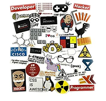 YLGG 40 Unids/Set Pegatinas de programación SQL Geek Hacker ...