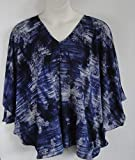 Shoulder Shirt Side Opening Post Surgery Shirt - Shoulder- Mastectomy - Breast Cancer/Adaptive Clothing- Hospice, Seniors/Rehab - Denim Paisley -Style Kiley (XS only)