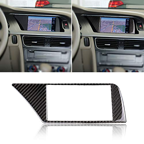 Misszhang-US Carbon Fiber Car Navigation Screen Frame Cover Sticker for Audi A4 B8 09-16 -