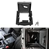 Security Console Insert Center Console Safe Heavy Duty Armrest Storage Lock Box for 2018 2019 2020 Jeep Wrangler JL JLU
