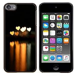 Eason Shop / Premium SLIM PC / Aliminium Casa Carcasa Funda Case Bandera Cover - Bokeh Luces Corazones - For Apple iPod Touch 6 6th Touch6