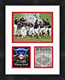 Cleveland Indians 22 Game Winning Streak MLB, 11 x 14 Matted Collage Framed Photos Ready to hang