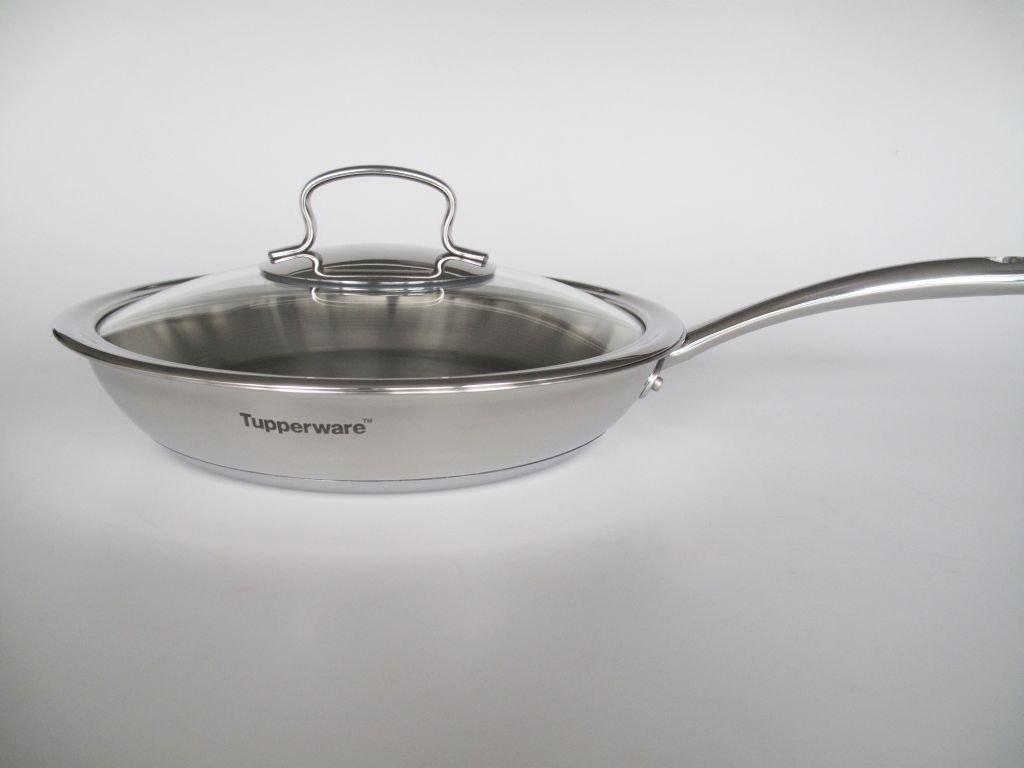 Tupperware Chef Serie Pfanne 28 Cm Mit Glasdeckel Deckel Edelstahl Tchef Fry Pan Kche Haushalt