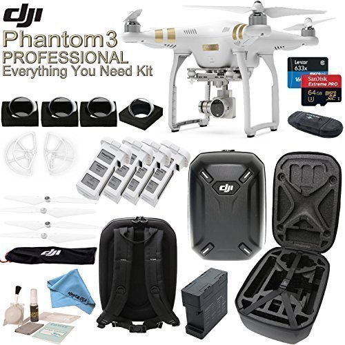 DJI Phantom 3 Professional w/ eDigitalUSA Everything You Nee