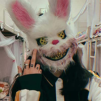 Queta Halloween Máscara Conejo LED, Máscara Sangrienta Monstér ...