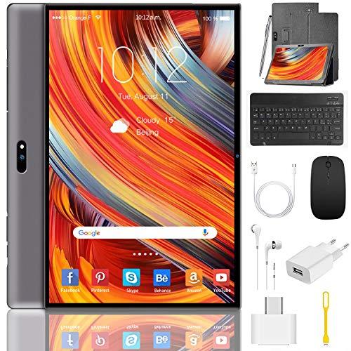 🥇 Tablet 10 Pulgadas 4G/WiFi Android 9.0 Pie Ultrar-Rápido Tablets 3GB RAM + 32GB ROM/128GB Escalable | Laptop Convertible de Oficina | Dual SIM -8000mA Bluetooth5.0 GPS Tablet