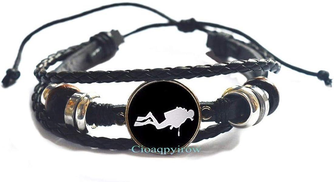 Cioaqpyirow Scuba Diver Bracelet Snorkeling Swimming Nautical Ocean Art Bracelet,Diving Gift,Dive Bracelet,Diver Jewelry,Diving Bracelet,HO0E385