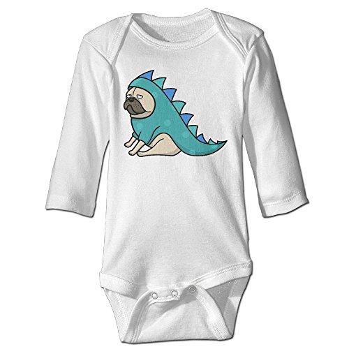 Pugs In Dinosaur Costumes (Pug Not Dinosaur Baby Jumpsuit Infant Boy Girl Clothes Cotton Romper Bodysuit Onesies)