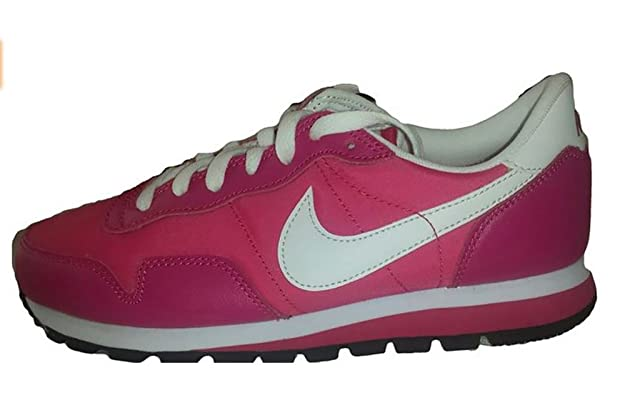 sale retailer 248d5 d68cf Amazon.com   Nike Youth Girls Metro Plus Running Shoes Classic Spark White Voltage  Cherry   Running
