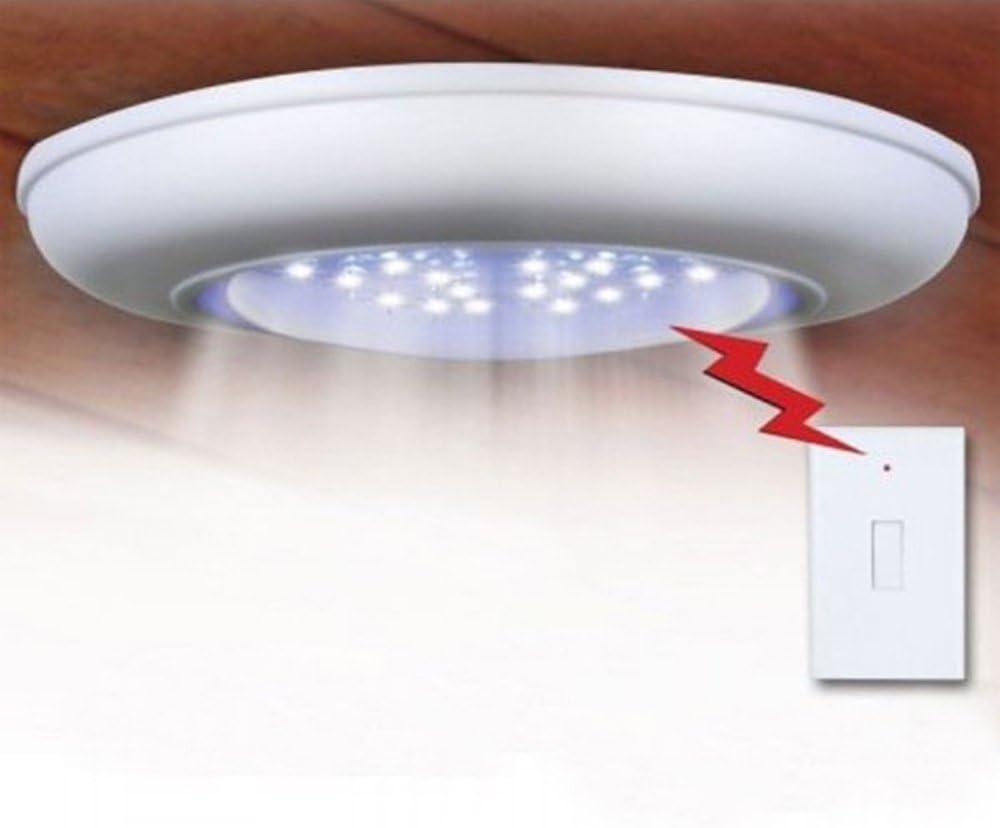 yesshow inalámbrica funciona con pilas con 18 luces LED techo lámpara de pared escaleras pasillo lámpara de luz de noche armario Gabinete luz interruptor de control remoto +: Amazon.es: Iluminación