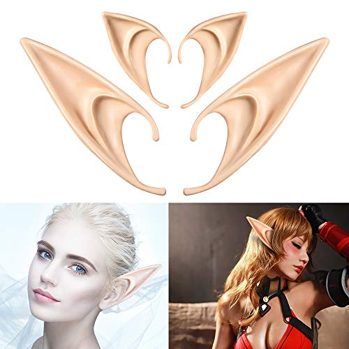 Elf Ears Christmas Party, Spock Ear Elven Costumes Fairy Cosplay Accessories]()