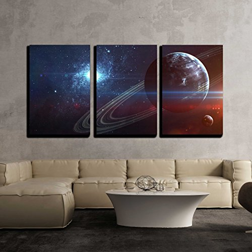 Infinite space background with nebulas and stars x3 Panels