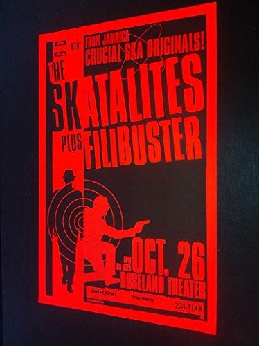 Skatalites Filibuster Rare Original Portland Ska Reggae Concert Tour Gig Poster from ConcertPosterArt