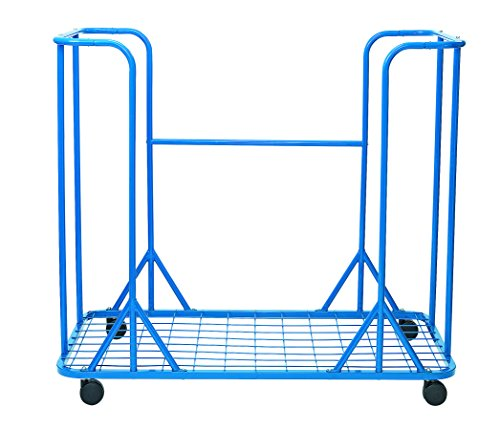 "Angeles AFB7930 Mobil Metal Mat Storage Cart Holds 40-1"" or 20-2"" Mats, 3 Fold, Kindergarten Grade to 4 Age, 52"" Height, 26"" Length, 54"" Width"