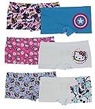 Disney Girls Boyshort Assorted Underwear Pack of 12 - M