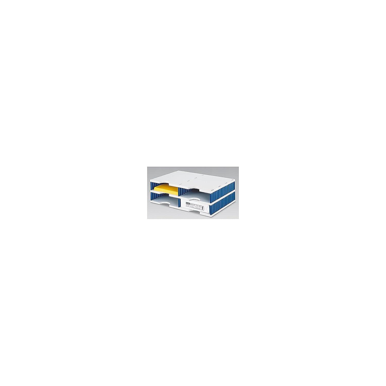 styrodoc Sortierstation Duo mit 4 Fä chern/268020238 485x331x153mm grau/blau 268-0202.38 243850