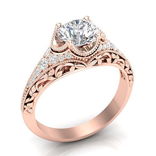 Amazon.com Rose Gold Vintage Engagement Ring Antique