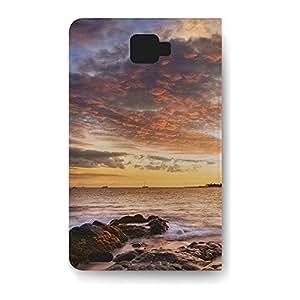 Leather Folio Phone Case For Samsung Galaxy Note 2 Leather Folio - Sunset Coast Leather Back
