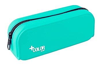+ Color Estuche de Silicona, Tacto Ultra Soft de Alta Resistencia, Estuche Multiuso para Viaje, Material Escolar y Accesorios. Medidas 18 x 7 x 5 cm