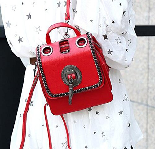 Versión Coreana Damas Bandolera Moda Borlas Mochila De Doble Propósito Personalidad Mochila Bolso Red