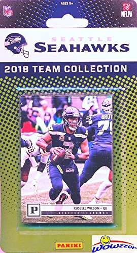 (Seattle Seahawks 2018 Panini NFL Football Factory Sealed Limited Edition 9 Card Complete Team Set Russell Wilson,Earl Thomas III, Rashaad Penny RC & Many More! WOWZZER!)