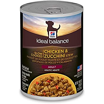Hill's Ideal Balance Adult Wet Dog Food, Slow Cooked Chicken & Zucchini Stew Canned Dog Food, 12.5 oz, 12 Pack