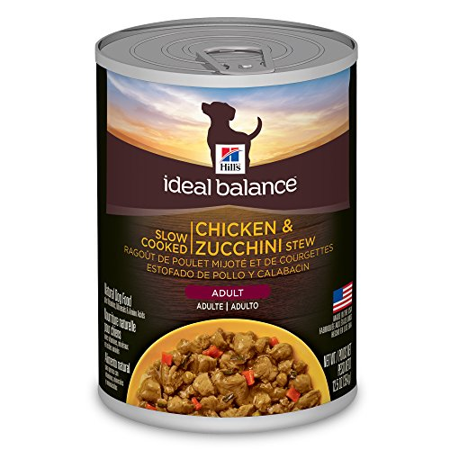 - Hill'S Ideal Balance Adult Wet Dog Food, Slow Cooked Chicken & Zucchini Stew Canned Dog Food, 12.5 Oz, 12 Pack
