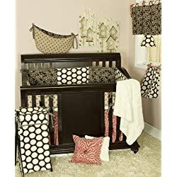 Cotton Tale Designs Girl's Crib Bedding Set, Raspberry Dot, 7 Piece