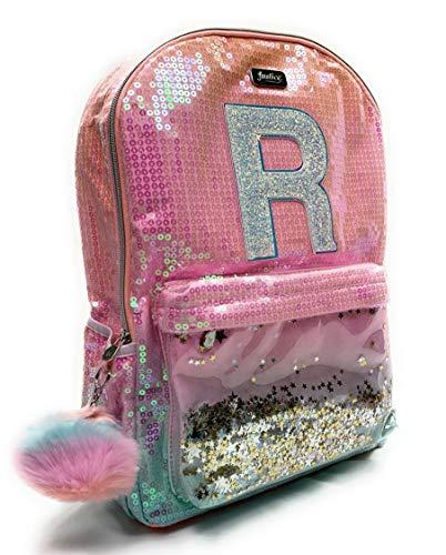 Justice Backpacks For Kids (Justice Girls Ombre Initial Shaky Backpack Pink Bag Letter)