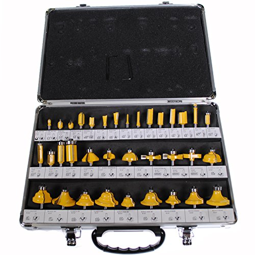 Shop4Omni NEW 35 PIECE CARBIDE ROUTER BIT TOOLS SET W/CASE (1/4