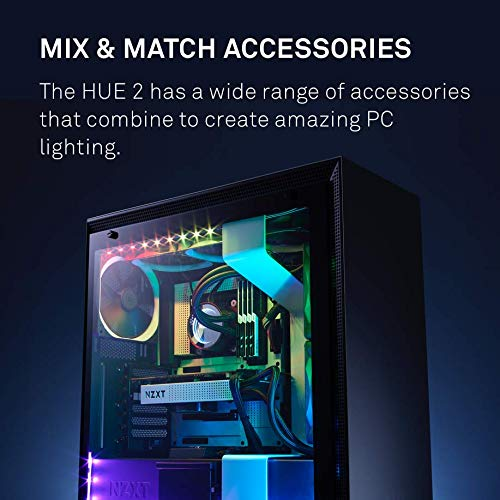 NZXT HUE2 RGB Lighting Kit - Four Magnetic LED Strips - Quad-Channel Support - Advanced PC Lighting System by NZXT (Image #5)