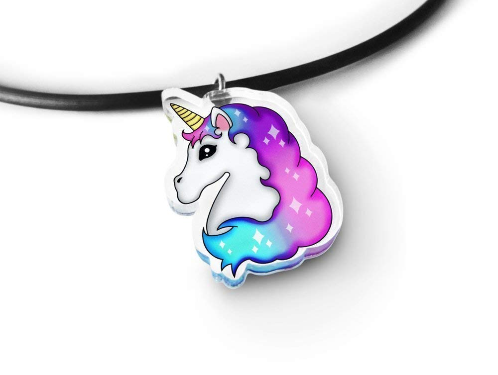 Light Unicorn Charm Choker - Rainbow Unicorn, Magical Unicorn, Fairy Kei, Kawaii Unicorn, Aeshtetic Grunge 5