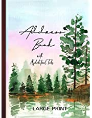 Address Book: Hardcover With Alphabetical Tabs & Large Print Gift for Mom