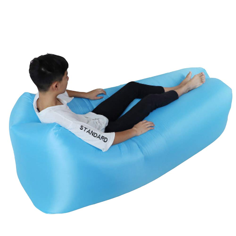 A 200x70cm(79x28inch) Portable Inflatable Sofa,Outdoor Lazy Folding ChairSkin-Friendly Breathable Waterproof & Easy to StoreEasy to Clean-f 200x70cm(79x28inch)