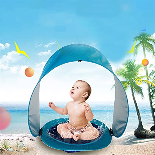 Ymibull Baby Beach Tent, Pop Up Portable Sun Shelter with Pool, Summer Outdoor Tent Parks Beach Shade