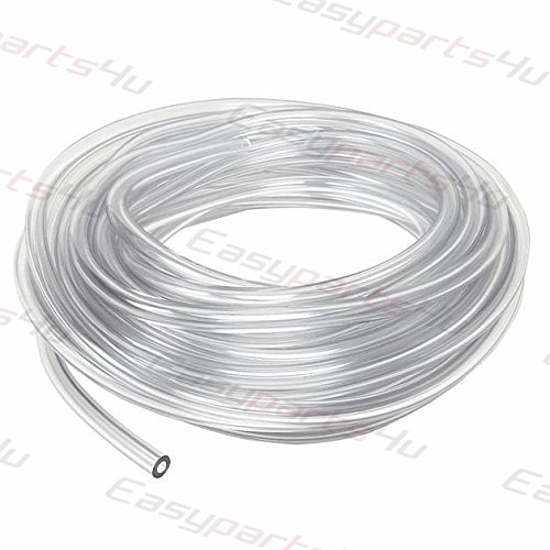 Pneumatic Polyurethane PU Hose \ 12mm x 8mm \ 5m \ Clear (transparent) \ Flexible Tubing Pipe Tube - Air Chemical Fuel Oil easyparts4u