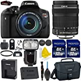 Canon EOS Rebel T6i 24.2MP WiFi Enabled Digital SLR Camera + Canon EF-S 18-135mm IS STM + 2pc High Speed 32GB Memory Cards + UV Filter + TTL Flash + Cleaning Kit + 9pc Accessory Kit