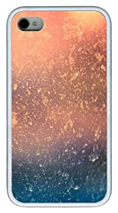 Water Drops bokeh on window glass TPU Custom Design iPhone 4/4S Case Cover - White