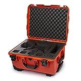 Nanuk DJI Drone Waterproof Hard Case with Wheels and Custom Foam Insert for DJI Phantom 4/ Phantom 4 Pro (Pro+) / Advanced (Advanced+) & Phantom 3 - 950-DJI43 Orange