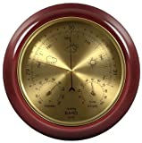 Lily's Home Cherry Finish Dial Traditional Barometer with Temperature and Humidity
