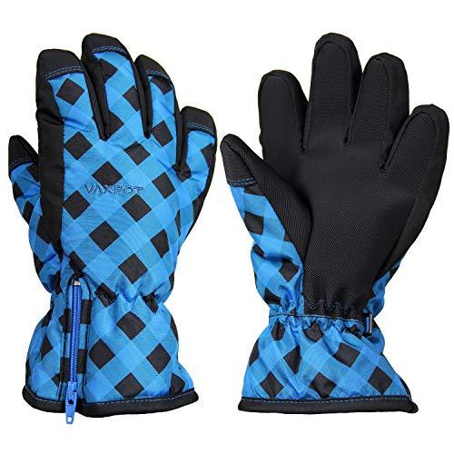 [해외]VAXPOT (백 냄비) 스키 장갑 어린이 주니어 【 착 탈 가능한 사이드 지퍼 방수 필름 들어가고 】 VA-3959 / VAXPOT Ski Gloves Kids Junior [Easy-to-Detachable Side Fastener with Waterproof Fil