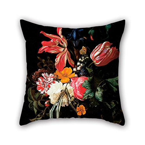 Price comparison product image Slimmingpiggy 16 X 16 Inches / 40 By 40 Cm Oil Painting Maria Van Oosterwijck - Flower Still Life Valentine Day Pillow Shams 2 Sides Is Fit For Monther Outdoor Lounge Boys Home Office Chair