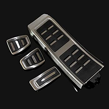 JessicaAlba Car Fittings Accelerator Brake Rest Set MT Brake Clutch Pad Pedal Fit For Audi A4