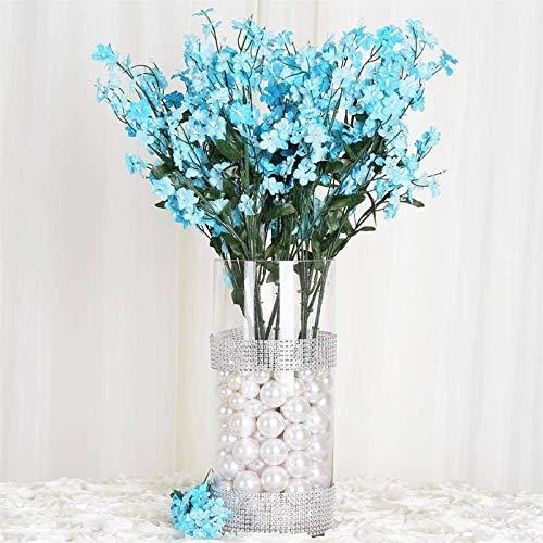 BalsaCircle 32 Turquoise Silk Baby Breath Artificial Flowers - 12 Bushes - Wedding Party Centerpieces Arrangements Bouquets Supplies ()