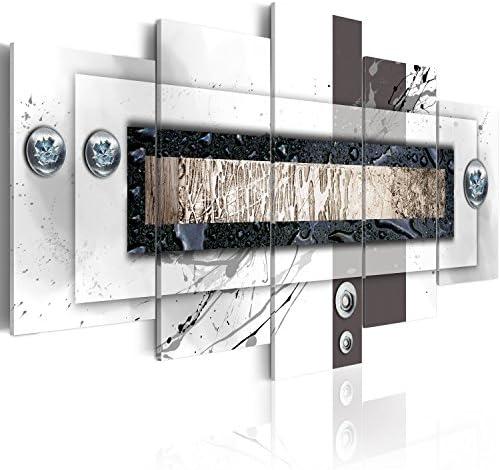 murando Quadro 100x50 cm 5 Pezzi Stampa su Tela in TNT XXL Immagini Moderni Murale Fotografia Grafica Decorazione da Parete Astratto Quadro 020101-156