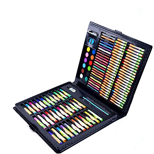 Guodanqing Children's Painting 160 Piece Set School Supplies Brush Tool Primary School Watercolor Pen Stationery Gift Box by Guodanqing